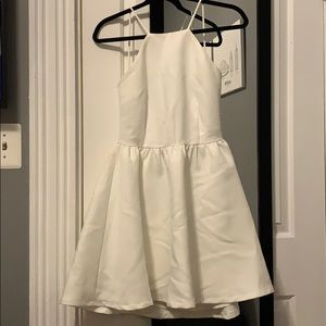 Tobi white open back dress size M